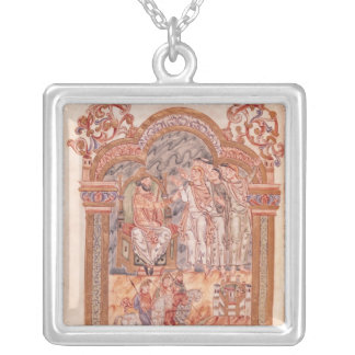 The Magi Visiting King Herod Silver Plated Necklace