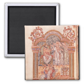 The Magi Visiting King Herod Square Magnet