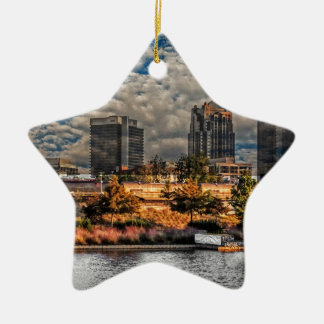 The Magic City Ceramic Star Decoration