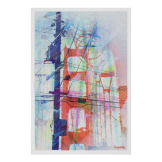 The Magic Electric Golden gate of san Francisco Poster