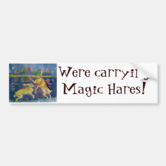 """The Magic Hares"" Bumper Sticker"
