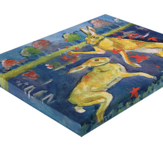 """The Magic Hares"" Canvas Prints"