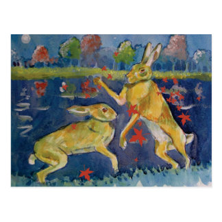 """The Magic Hares"" Postcard"