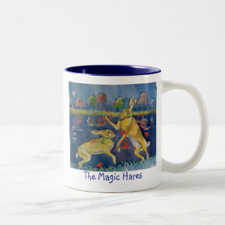 """The Magic Hares"" Two-Tone Coffee Mug"