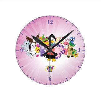 The Magical World of Webkinz Round Clock