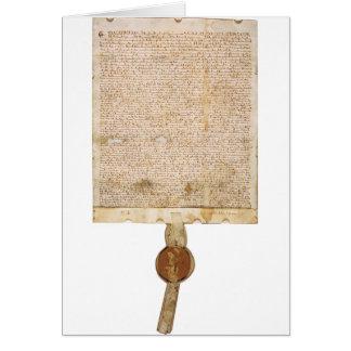 The Magna Carta 1297 Version Greeting Card
