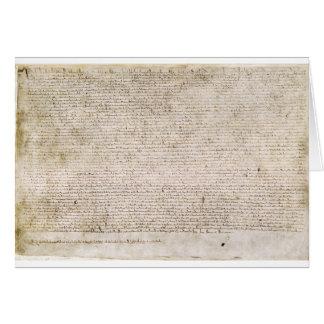 The Magna Carta of 1215 Charter of Liberties Cards