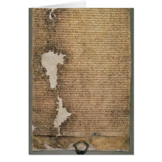 The Magna Carta of Liberties, Third Version Card