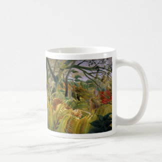"""The magnetic cup """"of Tiger in a Tropical Storm"""" Basic White Mug"""