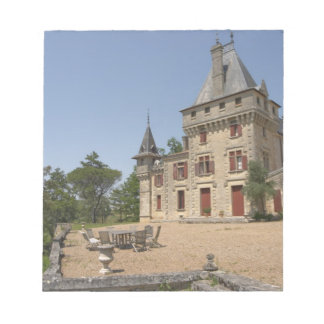 The magnificent Chateau de Pressac and garden Notepad