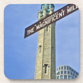'The Magnificent Mile Sign with the Water Tower, Coaster