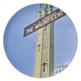 'The Magnificent Mile Sign with the Water Tower, Plate