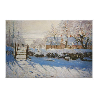 The Magpie La Pie by Claude Monet Canvas Print