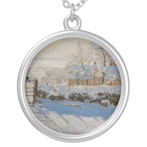 The Magpie La Pie by Claude Monet Custom Jewelry