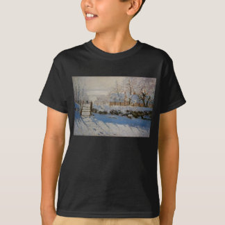 The Magpie La Pie by Claude Monet Tee Shirts