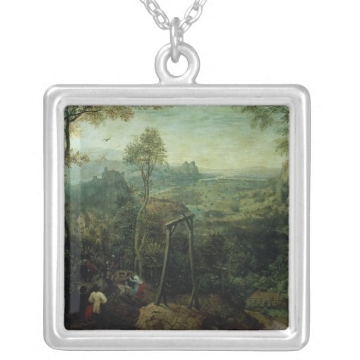 The Magpie on the Gallows, 1568 Personalized Necklace