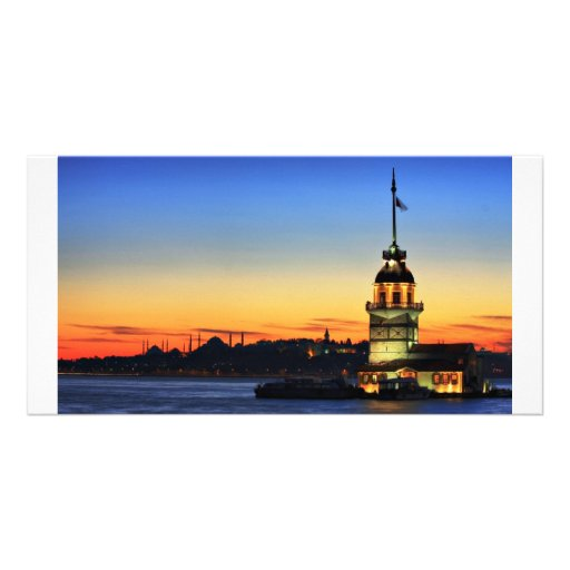 The Maiden's Tower in Istanbul Personalised Photo Card