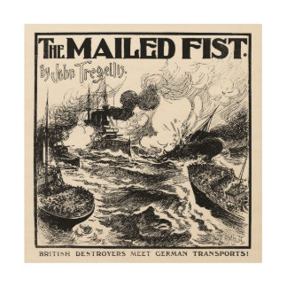 The Mailed Fist - Vintage 1914 Wood Wall Art