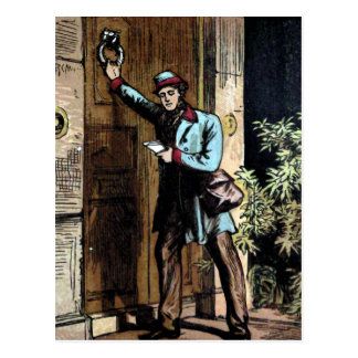 """The Mailman"" Vintage Illustration Postcard"