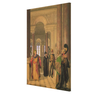 The Main Staircase of the Louvre, 1817 Canvas Print