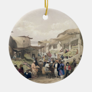 The Main Street in the Bazaar at Caubul, in the Fr Christmas Ornament