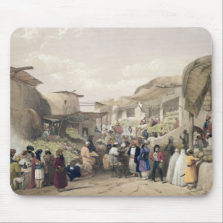 The Main Street in the Bazaar at Caubul, in the Fr Mouse Mat