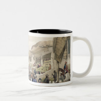 The Main Street in the Bazaar at Caubul, in the Fr Two-Tone Coffee Mug