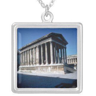 The Maison Carree Silver Plated Necklace