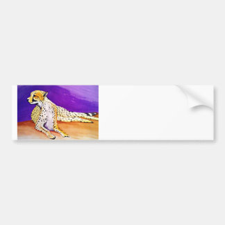 The Majestic Cheetah (Kimberly Turnbull Art) Bumper Sticker