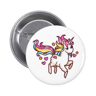 The Majestic Llamacorn 6 Cm Round Badge