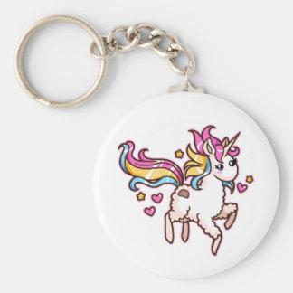 The Majestic Llamacorn Basic Round Button Key Ring