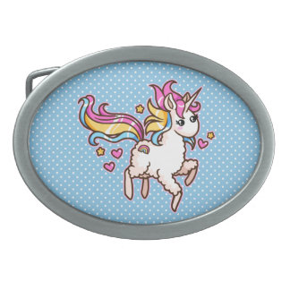 The Majestic Llamacorn Belt Buckle
