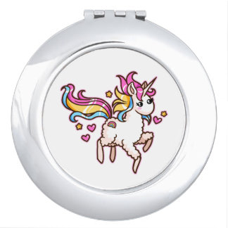 The Majestic Llamacorn Compact Mirrors
