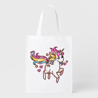 The Majestic Llamacorn Reusable Grocery Bag