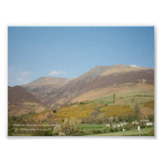 The Majestic Mountain of Skiddaw Poster