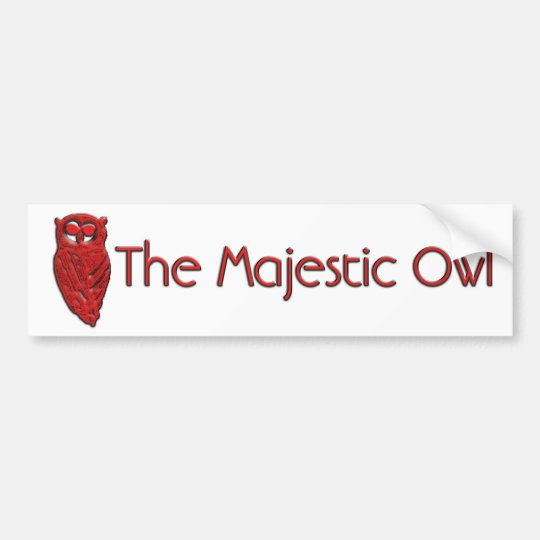 The Majestic Owl Bumper Sticker
