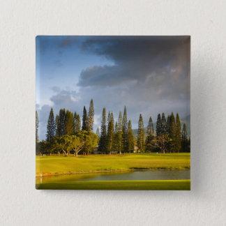 The Makai golf course in Princeville 2 15 Cm Square Badge