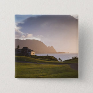 The Makai golf course in Princeville 3 15 Cm Square Badge