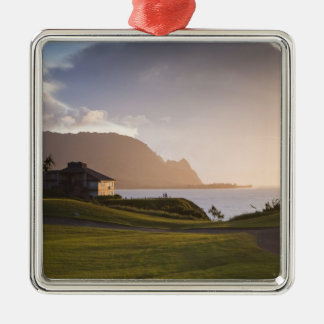 The Makai golf course in Princeville 3 Christmas Ornament