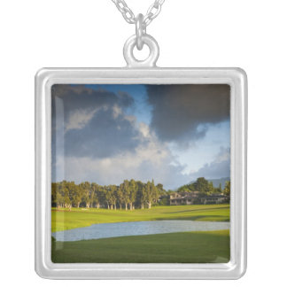 The Makai golf course in Princeville 4 Silver Plated Necklace