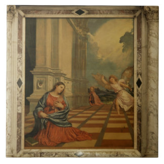 The Malchiostro Annunciation, c.1520 (oil on panel Large Square Tile