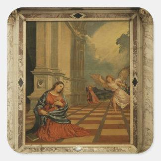 The Malchiostro Annunciation, c.1520 (oil on panel Square Sticker