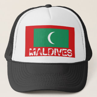 The Maldives flag trucker mesh souvenir hat