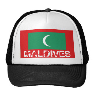The Maldives flag trucker mesh souvenir hat