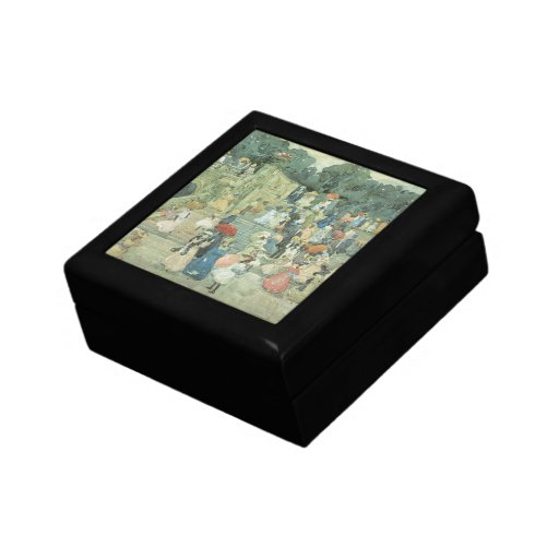 The Mall, Central Park by Prendergast, Vintage Art Jewelry Box