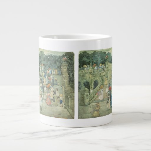 The Mall, Central Park by Prendergast, Vintage Art Extra Large Mug