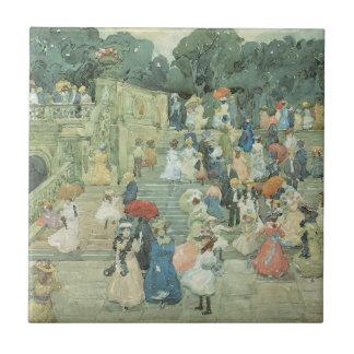 The Mall Central Park by Prendergast Vintage Art Ceramic Tiles