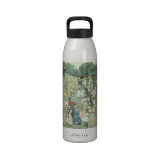 The Mall Central Park by Prendergast Vintage Art Reusable Water Bottles