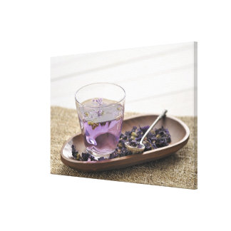 The mallow herb tea which a glass cup contains, gallery wrap canvas