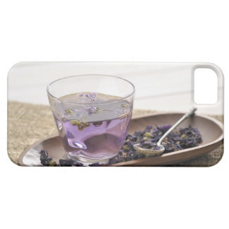 The mallow herb tea which a glass cup contains, iPhone 5 covers